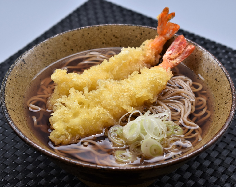 海老天ぷらそば