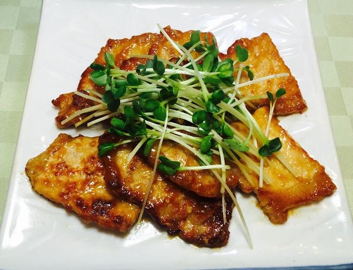 豚肉のスタミナ味噌焼き
