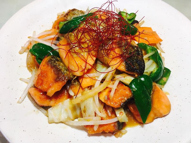 鮭のスタミナちゃんちゃん焼き